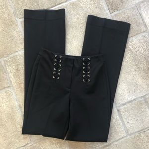 White House Black The Slim Flare Pants Lace Up 0